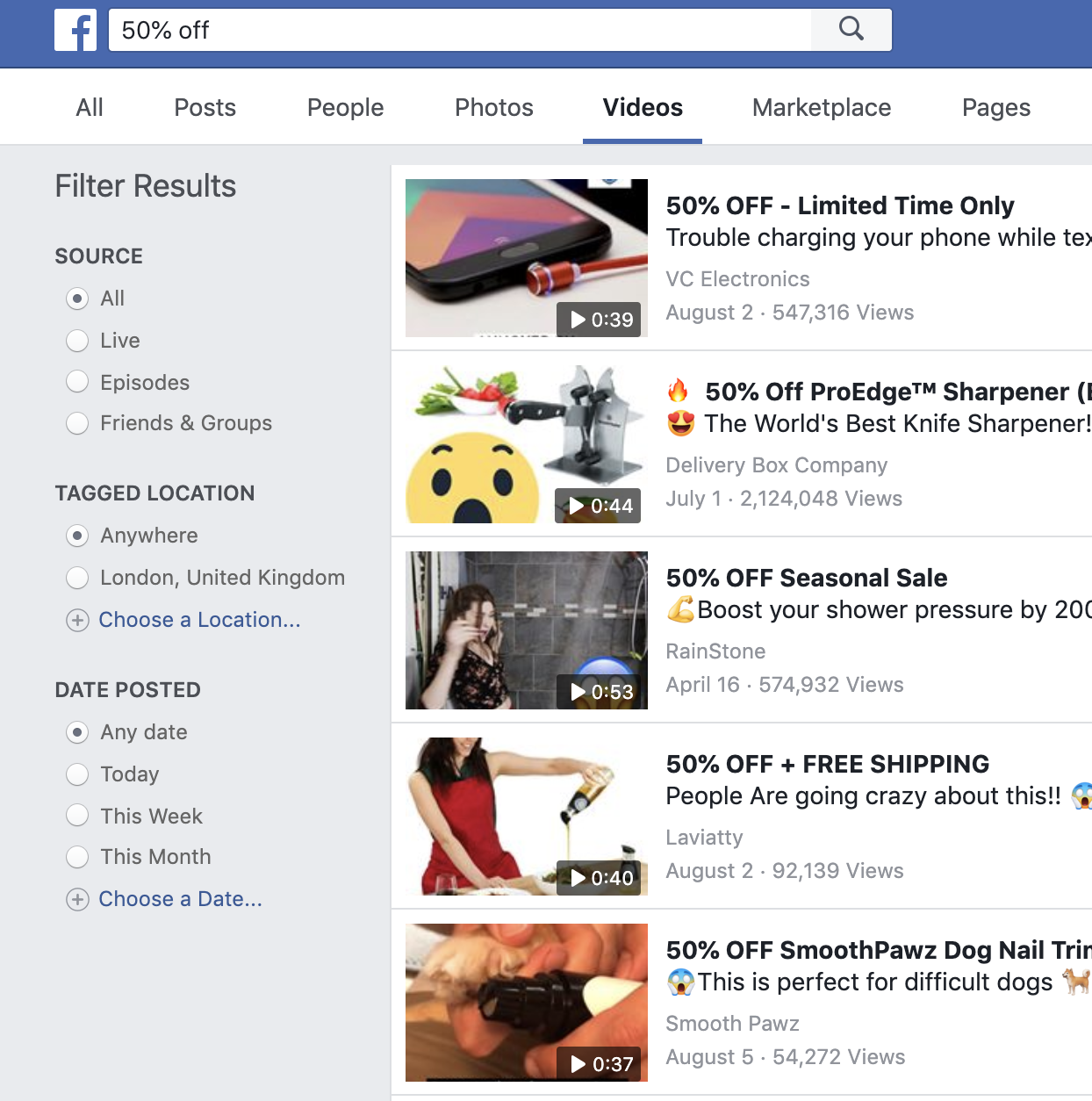 facebook product research dropshipping