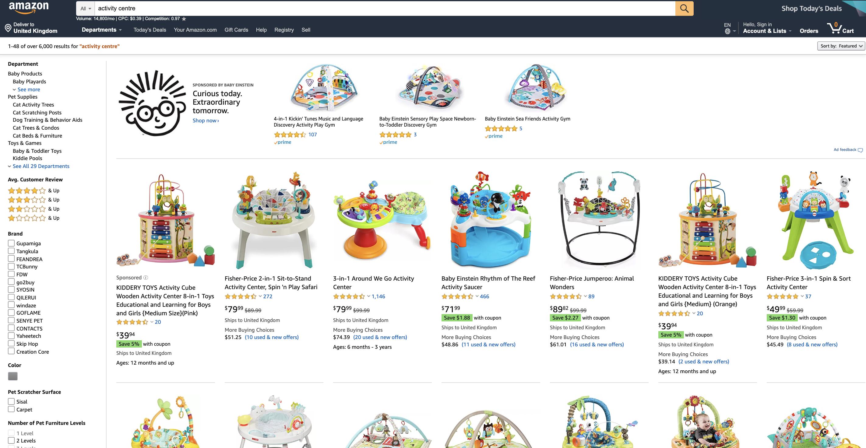 best seller rank amazon keyword research