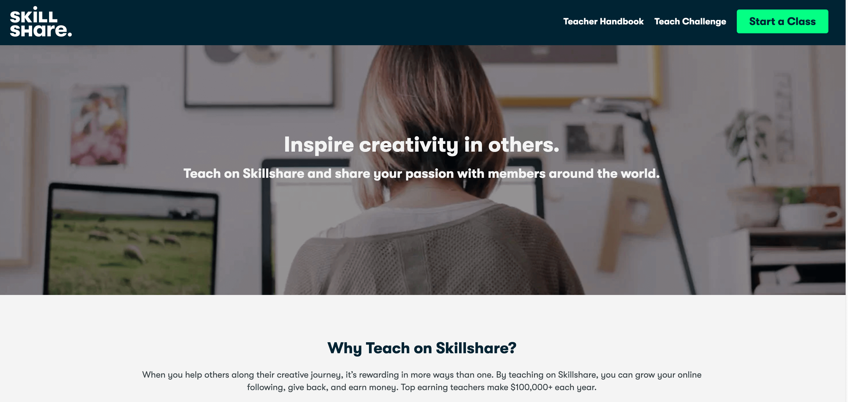 skillshare create classes courses and earn money for free