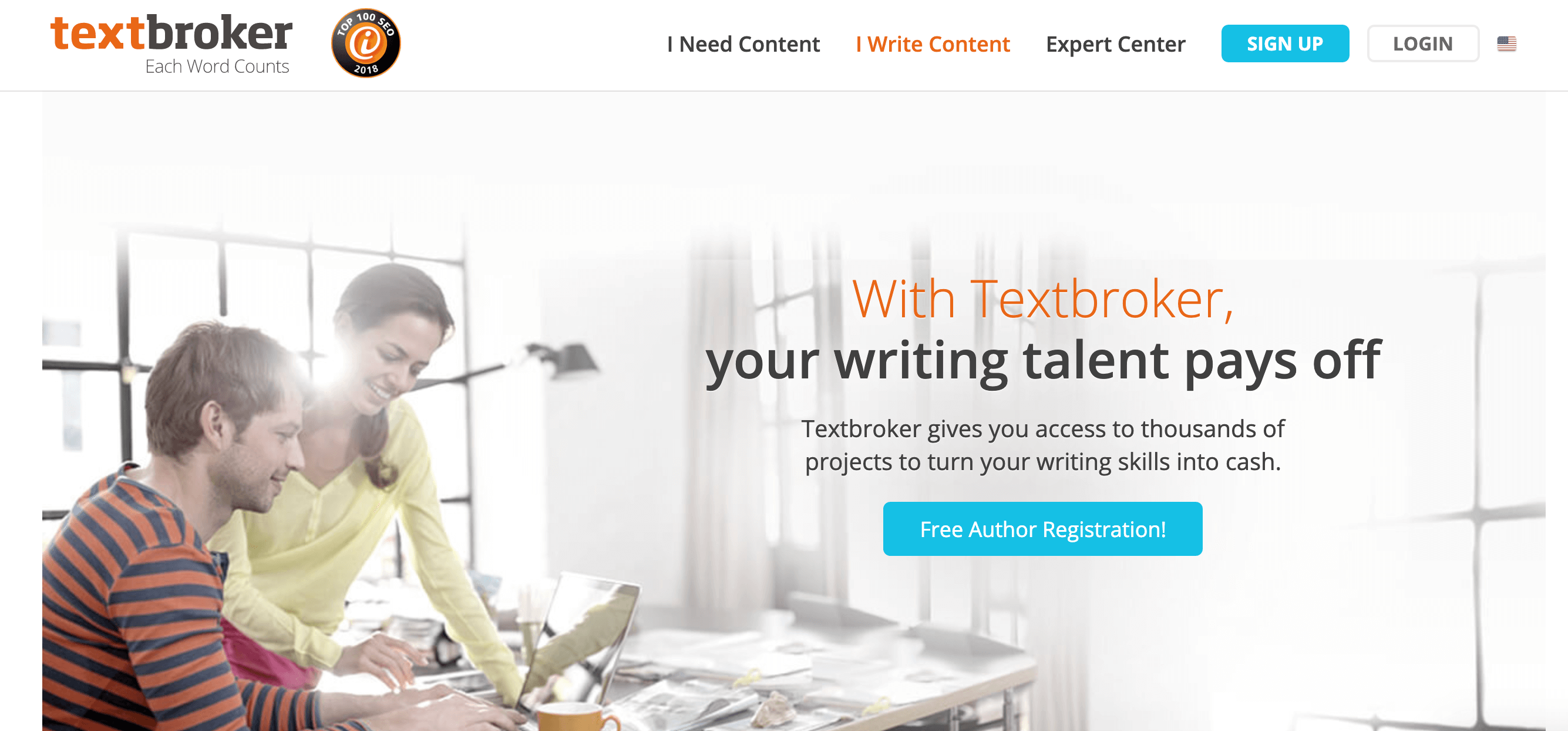 textbroker get paid to write articles