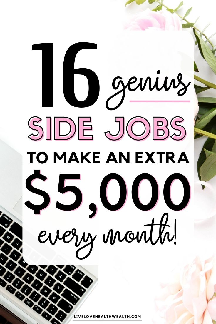 best side jobs to make 5k every month - earn money