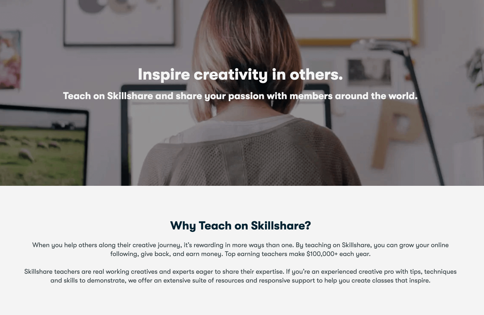 Teach on Skillshare and earn money from online courses - passive income