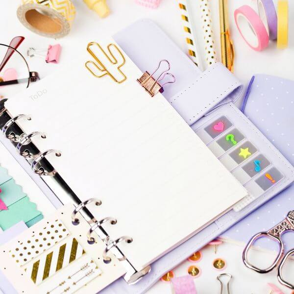 get a planner to start organizing your life