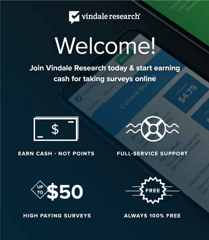 Get paid for your opinion! Earn cash for completing paid online and mobile surveys. Make money at home. PayPal payments. Free to join. $1 sign up bonus!