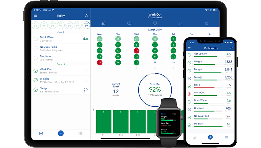 Track all your Goals & Habits in one place. strides-app-for-goal-setting-tracker