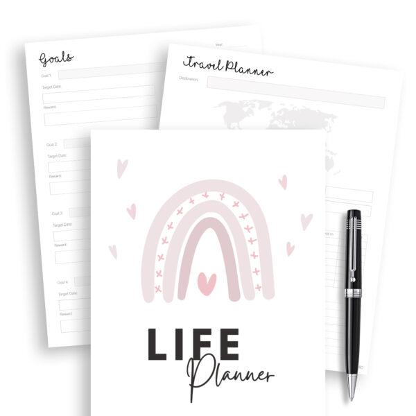 life planner printable, life planners, free printable planner -2