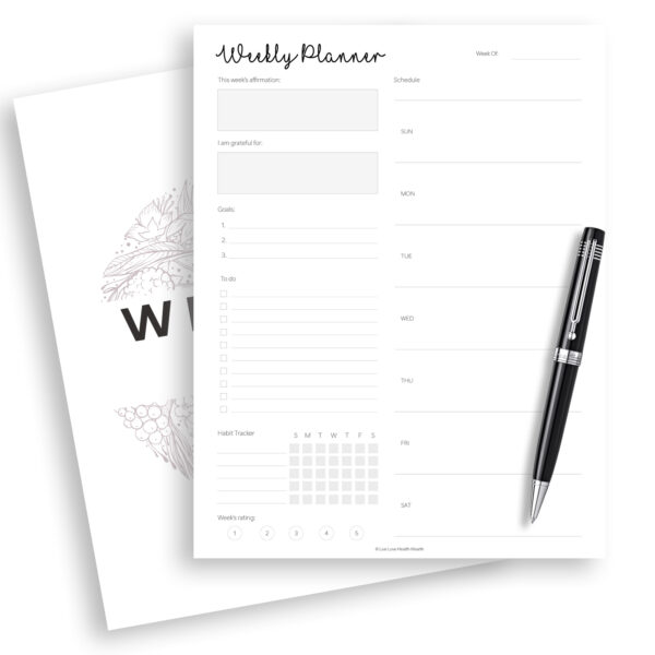 weekly planner printable, plan your week with this weekly planner printable